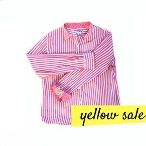 Tops - ⭐️Pink & White Striped Oxford